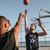 kosárlabda · kint · fiatal · kosárlabdázó · vezetés · magas - stock fotó © deandrobot