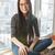 счастливым · азиатских · женщину · подоконник · очки · сидят - Сток-фото © deandrobot
