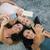 három · lányok · beszélget · okostelefonok · park · nők - stock fotó © deandrobot