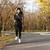 jonge · vrouwelijke · runner · warm · kleding · lopen - stockfoto © deandrobot