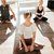 ontspannen · vrouw · mediteren · home · zwangerschap · yoga - stockfoto © deandrobot