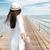 nő · fehér · ruha · sétál · tengerpart · lábak · kék - stock fotó © deandrobot