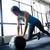 genç · kadın · egzersiz · top · mutlu · spor · salonu - stok fotoğraf © deandrobot
