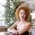 boldog · figyelmes · vörös · hajú · nő · nő · fürdőköpeny · portré - stock fotó © deandrobot