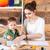 gyönyörű · fából · készült · asztal · fiókok · gyerek · fa - stock fotó © deandrobot