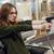 boldog · pénztáros · nő · munkaterület · áruház · bolt - stock fotó © deandrobot