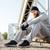 portrait of a sports man resting outside stock photo © deandrobot