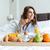 pretty · woman · relaks · bed · jedzenie · śniadanie · kobieta - zdjęcia stock © deandrobot