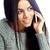 fiatal · figyelmes · nő · beszél · telefon · lány - stock fotó © deandrobot