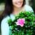 主婦 · ヘアブラシ · クローズアップ · 肖像 · 少女 · 笑顔 - ストックフォト © deandrobot