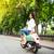 довольно · мотоцикл · улице · портрет · город - Сток-фото © deandrobot