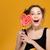 jonge · vrouw · lolly · jonge · dame · kleurrijk - stockfoto © deandrobot