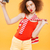 vertical image of bright model making selfie on retro camera stock photo © deandrobot
