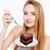 hand · cake · vrouwelijke · ongezond · slagroom · chocolade - stockfoto © deandrobot