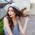 очаровательный · прикасаться · волос · белый - Сток-фото © deandrobot