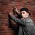 graffiti · pared · de · ladrillo · anarquía · pared · calle · pintura - foto stock © deandrobot