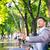 businessman making selfie photo on smartphone stock photo © deandrobot