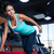 woman workout with dumbbell on the bench stock photo © deandrobot
