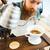 barista · água · café · terreno · filtrar - foto stock © deandrobot