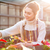 genç · kadın · bahçıvan · beyaz · çiçek · gülümseme · çalışmak - stok fotoğraf © deandrobot