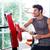 testépítő · izzadság · fitnessz · tornaterem · portré · jóképű - stock fotó © deandrobot