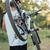 arkadan · görünüm · adam · bisiklet · orman · yol - stok fotoğraf © deandrobot