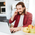 случайный · бизнесмен · смартфон · ноутбука · столе · служба - Сток-фото © deandrobot