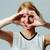 счастливым · женщину · сердце · знак · рук - Сток-фото © deandrobot