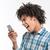 afro amerian man shouting on smartphone stock photo © deandrobot