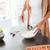 kadın · pişirme · yumurta · atış · kahvaltı - stok fotoğraf © deandrobot