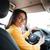 kadın · eller · direksiyon · sürücü · araba - stok fotoğraf © deandrobot
