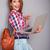 сумку · ПК · портрет · привлекательный · джинсовой - Сток-фото © deandrobot