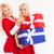 女性 · サンタクロース · 衣装 · ギフトボックス · かなり - ストックフォト © deandrobot