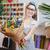 femme · fleuriste · bouquet - photo stock © deandrobot