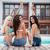 fiatalok · csoport · fürdő · úszómedence · boldog · jókedv - stock fotó © deandrobot