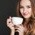 biały · kubek · młodych · Kafejka · mały - zdjęcia stock © deandrobot