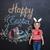 boldog · kicsi · fiú · visel · nyúl · fülek - stock fotó © deandrobot