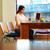ofis · çalışanı · kız · okuma · ekran · çalışmak · dizüstü · bilgisayar - stok fotoğraf © deandrobot