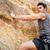 giovane · climbing · ripida · muro · montagna · giovani - foto d'archivio © deandrobot