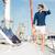 fiatal · elegáns · matróz · férfi · áll · jacht - stock fotó © deandrobot