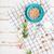 kom · bloemen · houten · hemel · natuur · achtergrond - stockfoto © deandrobot