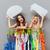 nő · dől · ruhaakasztó · butik · mosolygó · nő · üzlet - stock fotó © deandrobot