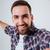 улыбаясь · бородатый · человека · рубашку - Сток-фото © deandrobot