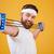 ritratto · forte · muscolare · maschio · bodybuilder - foto d'archivio © deandrobot