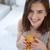 若い女性 · 飲料 · オレンジジュース · 白 · ガラス · 健康 - ストックフォト © deandrobot