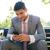 zakenman · smartphone · jonge · werkplek · business · kantoor - stockfoto © deandrobot