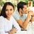 пару · еды · саду · человека · счастливым - Сток-фото © deandrobot
