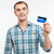 wesoły · człowiek · karty · kredytowej · shot - zdjęcia stock © deandrobot