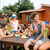 mannelijke · vrienden · drinken · groene · bier · eten - stockfoto © deandrobot