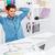男 · ストレッチング · オフィス · 手 · 背景 · ビジネスマン - ストックフォト © deandrobot